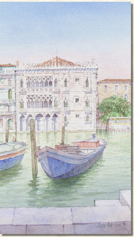 Watercolour painting Ca d'Oro Watercolour paintintg of Ca d'Oro Venice